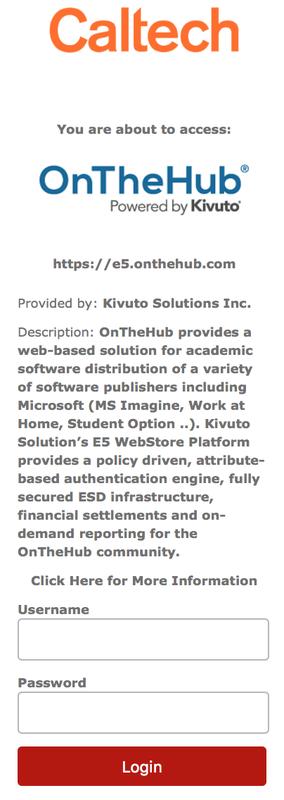 Software webstore IDP login