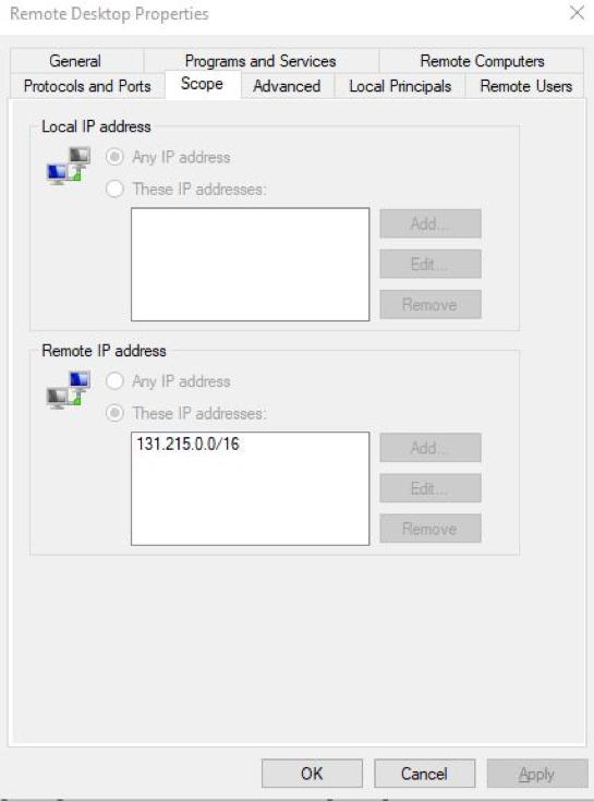 Remote Desktop Scope