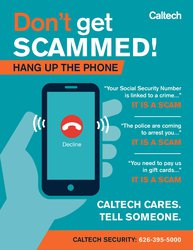 Poster image of Don't Get Scammed campaign