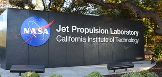 Sign of JPL with NASA logo and caltech
