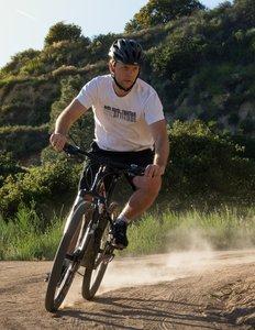 Pierrick on bike