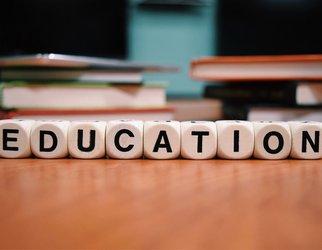 Education scrabble letters