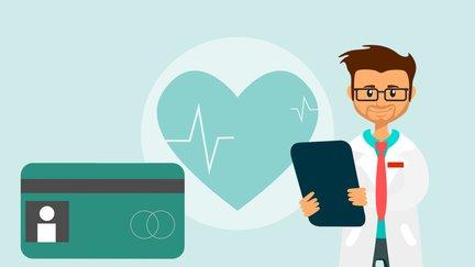 cartoon of health insurance