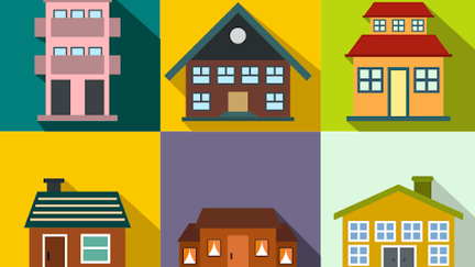 cartoon of different types of housing