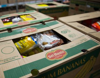 Boxes of non-perishable foods