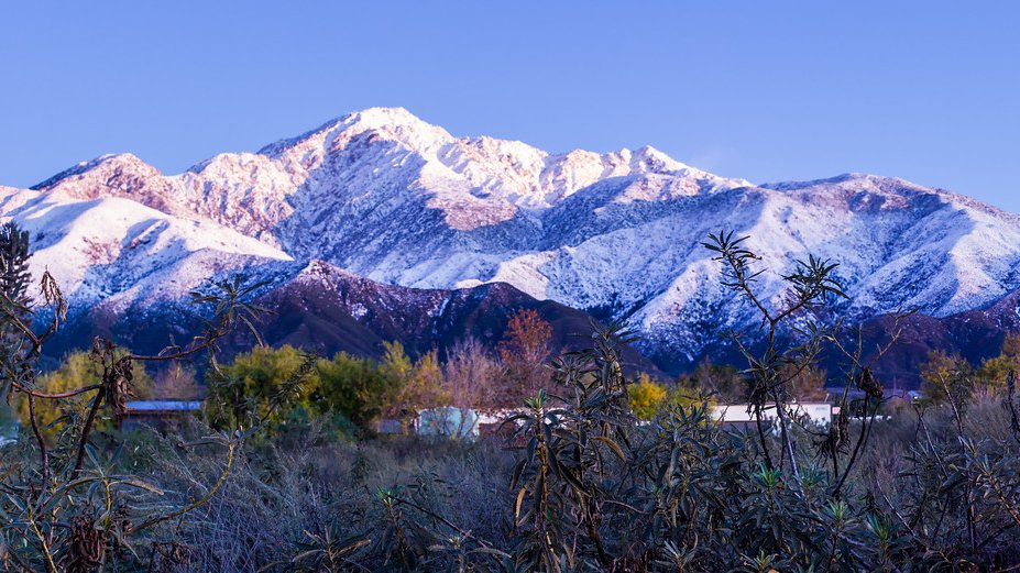 San Gabriel Mountains with Snow