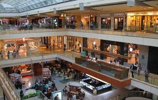 Interior of generic department store