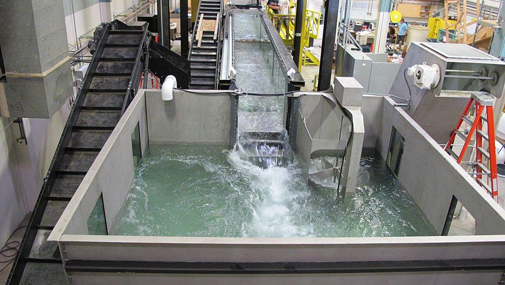 12 meter Tilting Flume