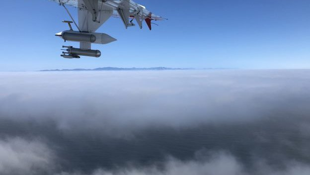 View of clouds from aboard the Twin Otter