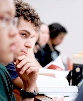 Undergrads in class