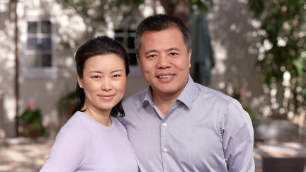 Photograph of Tianqiao and Chrissy Chen