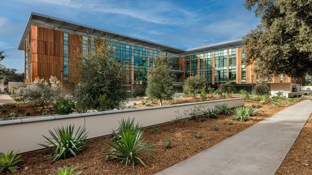 Exterior photograph of the Chen Neuroscience Research Building