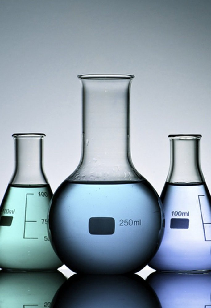 Photograph of science flasks