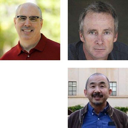 Headshots Christopher Hitchcock, Steve Quartz and Shin Shimojo