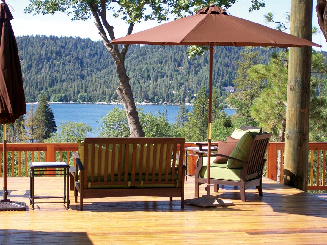 Photograph of the Zen deck at the the UCLA Conference Center, Lake Arrowhead