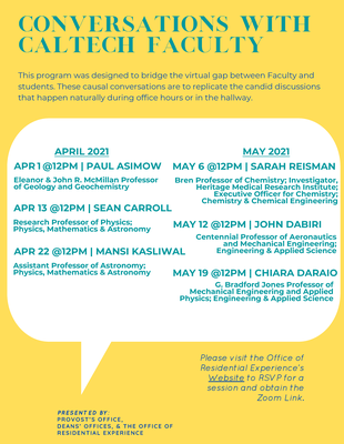 Conversations with Caltech Faculty