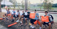 Students supporting Women's Tennis
