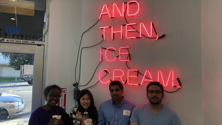 FYE ice cream outing