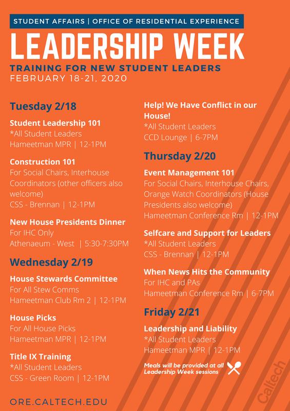 Leadership Week Flyer