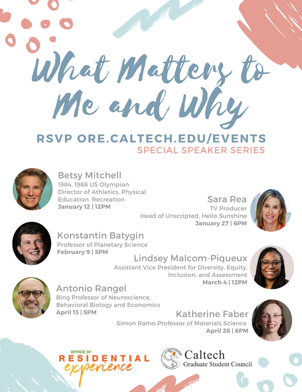 What Matters to Me and Why series flyer