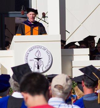 photo of President Rosenbaum at the podium during Inauguration on October 24, 2014
