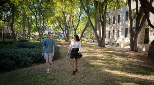 photo of students on Caltech campus