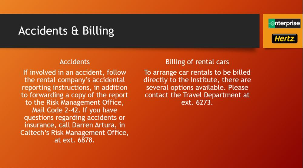 accidents & billing