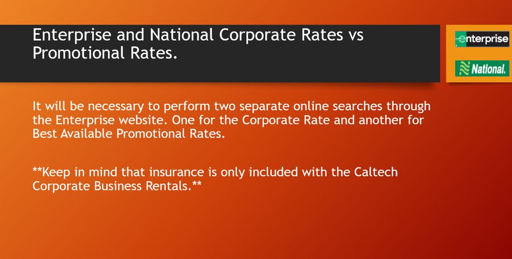 corporate vs promotional rates