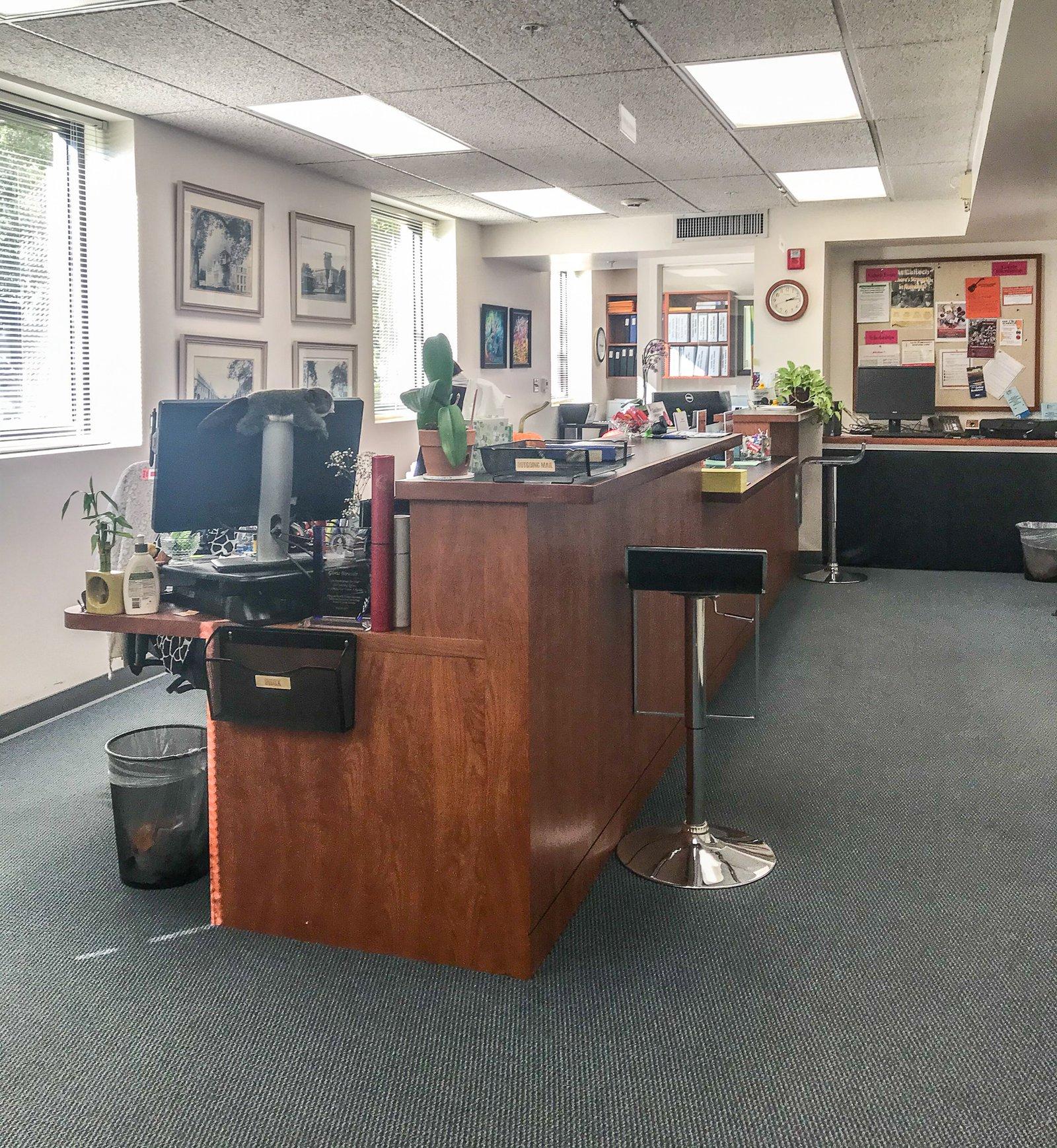 Interior of the Registrar Office