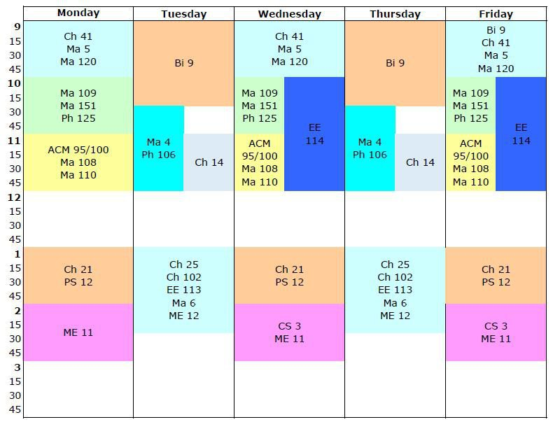 grid calendar for spring term