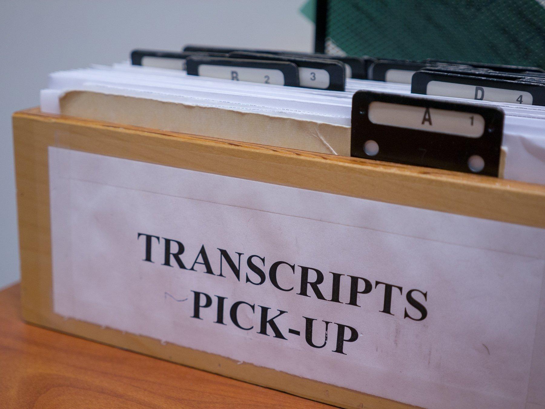 transcript box