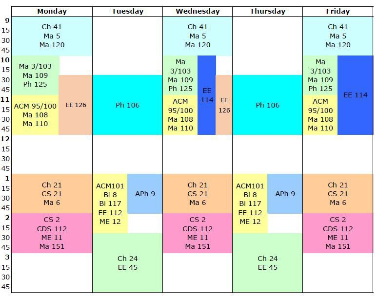 grid calendar for winter term