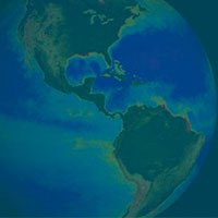 Earth on Blue Background -Earth Week Webinar Notice