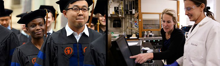 Clatech Grads (L), Frances Arnold and Lab Manager (R)