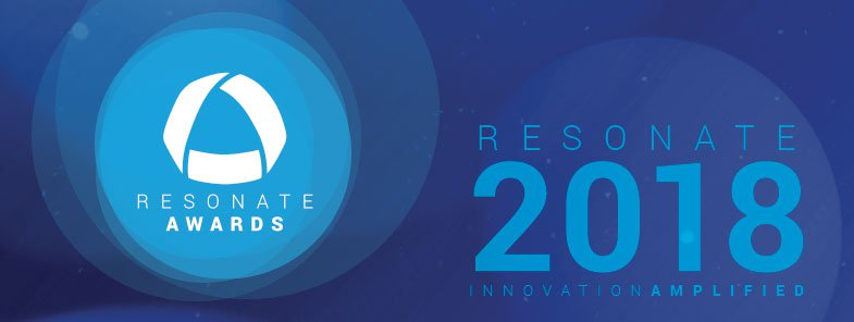 Resonate Awards 2018 logo banner