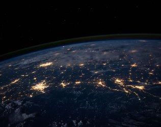 Earth at night