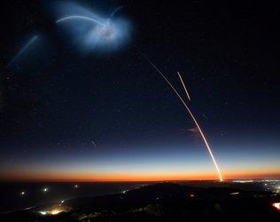 Night sky blast off