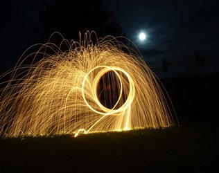fireworks swirl