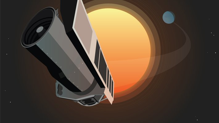 illustration of the Spitzer Space Telescope