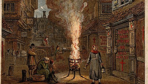 A street during the plague in London