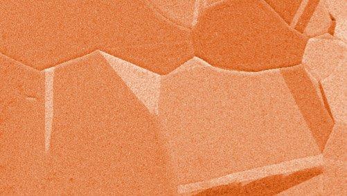 Copper foil microscopic image
