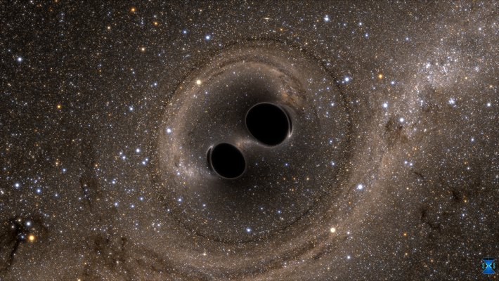 artist's conception of the merger of two black holes