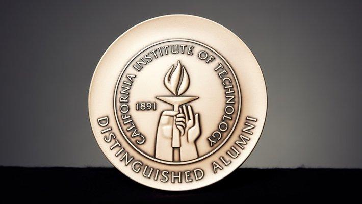 photo of the Distinguished Alumni Award medal