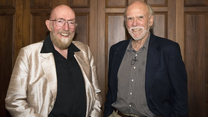 Kip S. Thorne (BS '62), the Richard P. Feynman Professor of Theoretical Physics, Emeritus, and Barry Barish, the Ronald and Maxine Linde Professor of Physics, Emeritus, were awarded the 2017 Nobel Prize in Physics on October 3 with a longtime colleague, M