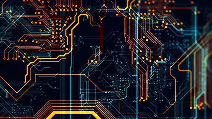 colorful circuit board image