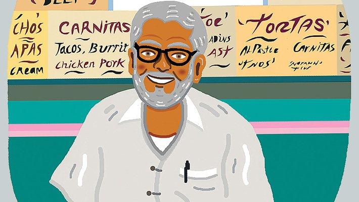 drawing of Ernie Mercado