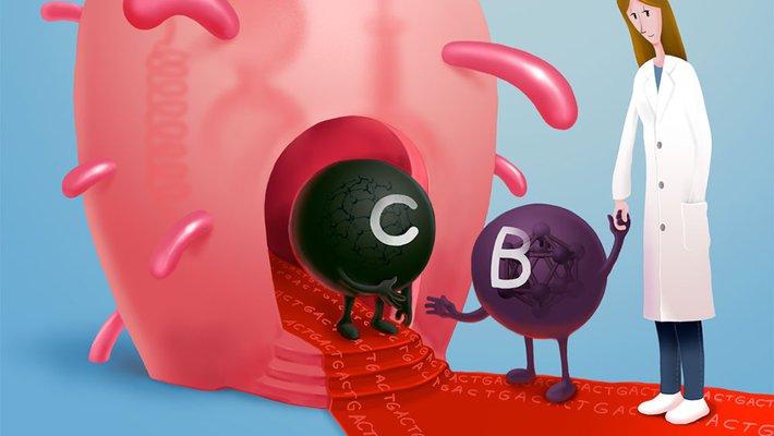 Artist's concept of boron meeting carbon