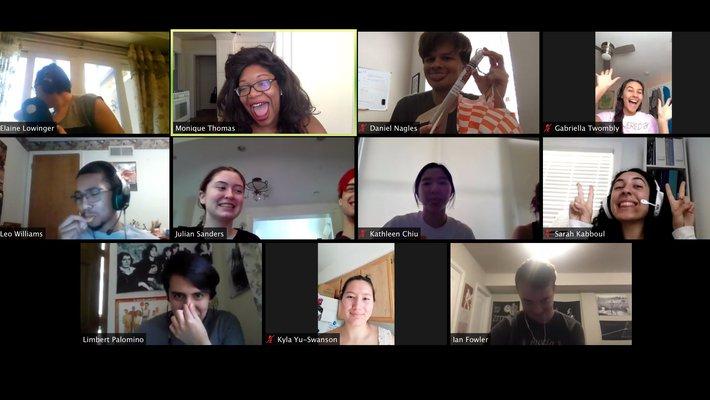 Screenshot of FSRI students on Zoom
