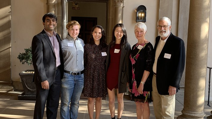 A portrait of several students who won the 2019 Robert L. Noland Leadership Award