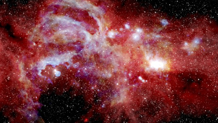 Infrared image of galactic center